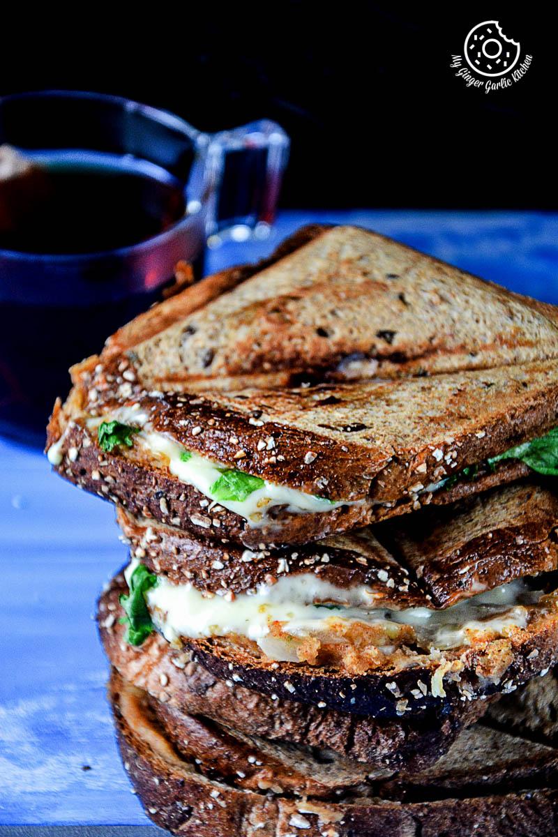 Image - recipe spiced potato cheese sandwich with Cheese anupama paliwal my ginger garlic kitchen 6 683x1024