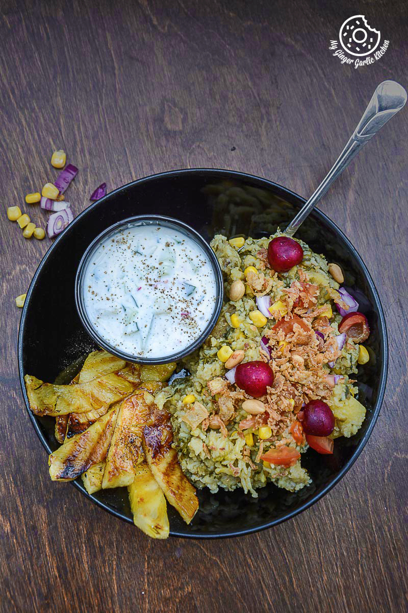 https://www.mygingergarlickitchen.com/spiced-rice-lentils-with-grilled-pineapple-and-cucumber-honey-lemon-yogurt/