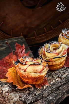 Image of Apple Rose Mini Tartlets