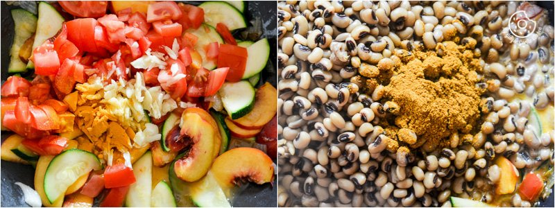 recipe-Black-Eyed-Bean-Zucchini-Peach-Curry|mygingergarlickitchen.com/ @anupama_dreams