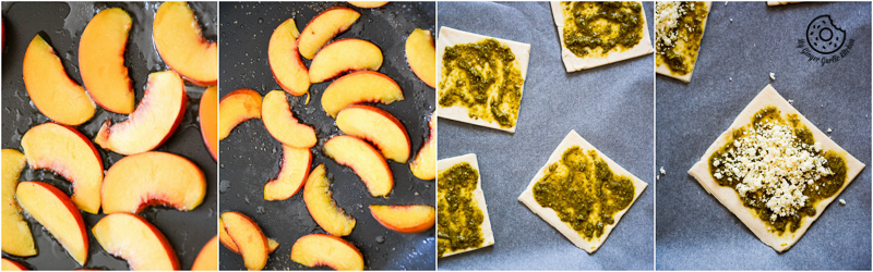 recipe-Caramelized-Peach-Pesto-Tart-with-Blueberries-and-Basils| mygingergarlickitchen.com/ @anupama_dreams