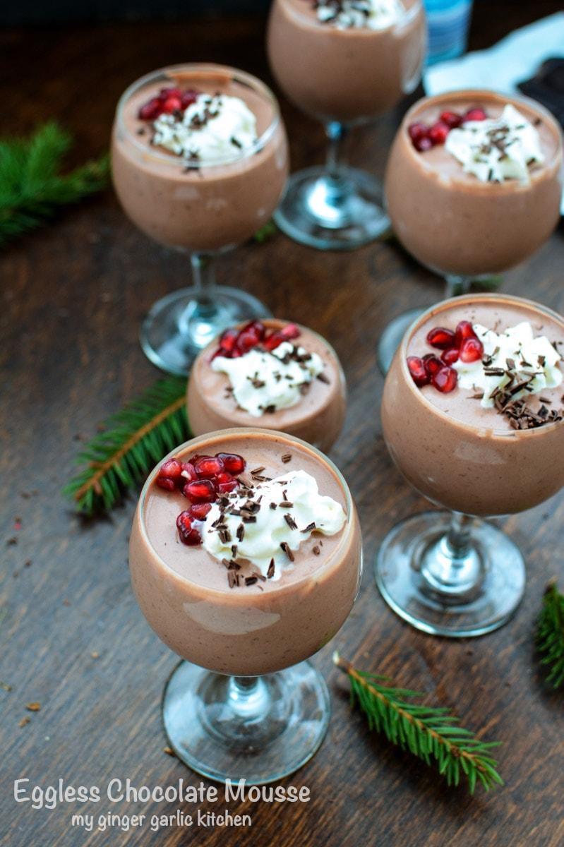 recipe-eggless-chocolate-mousse|mygingergarlickitchen.com/ @anupama_dreams