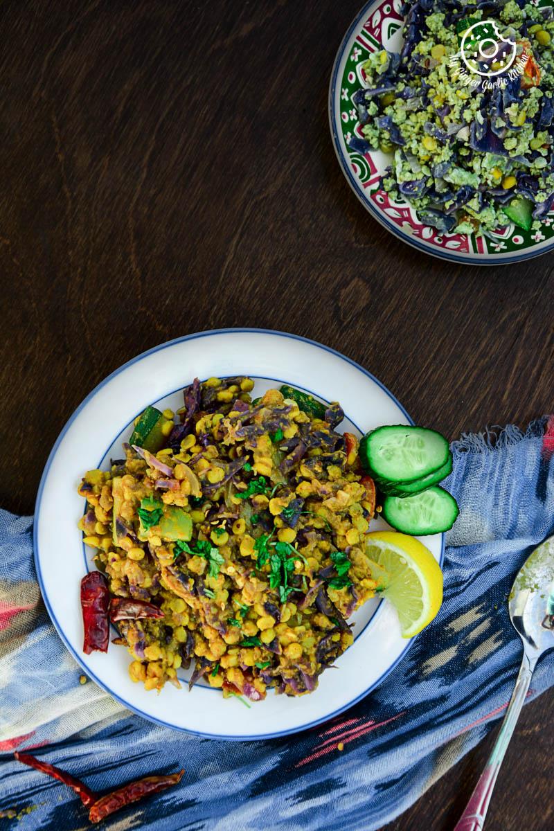 recipes-Red-Cabbage-Zucchini-Chana-Dal mygingergarlickitchen.com/ @anupama_dreams