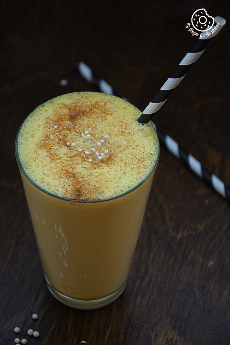 recipes-Spiced-Chai-Pumpkin-Smoothie|mygingergarlickitchen.com/ @anupama_dreams