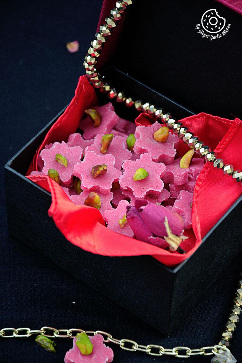 recipes-No-Bake-Almond-Flowers|mygingergarlickitchen.com/ @anupama_dreams