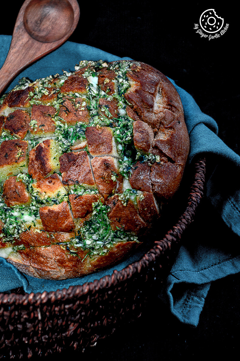 recipes-Pull-Apart-Garlic-Parsley-Bread|mygingergarlickitchen.com/ @anupama_dreams