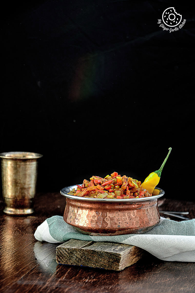 Image - recipes Pumpkin Rind Stir Fry anupama paliwal my ginger garlic kitchen 14 683x1024