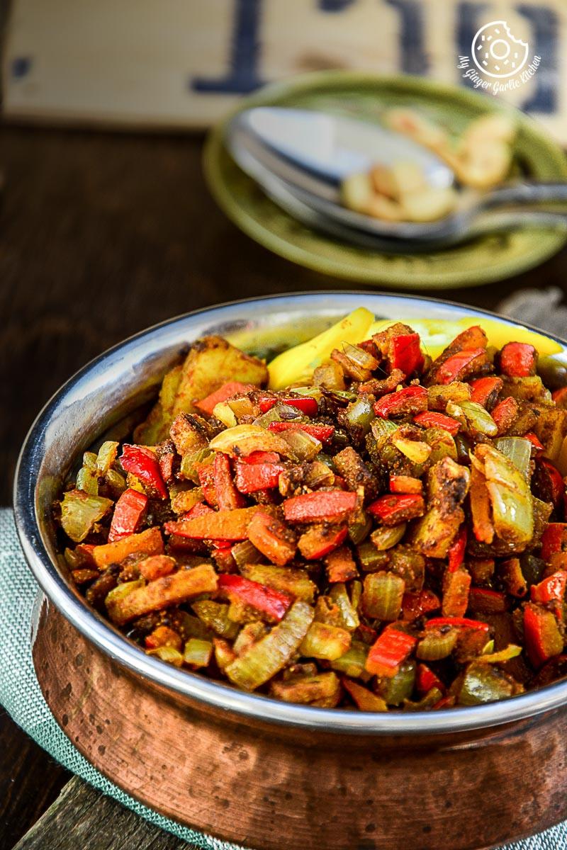 recipes-Pumpkin-Rind-Stir-Fry mygingergarlickitchen.com/ @anupama_dreams