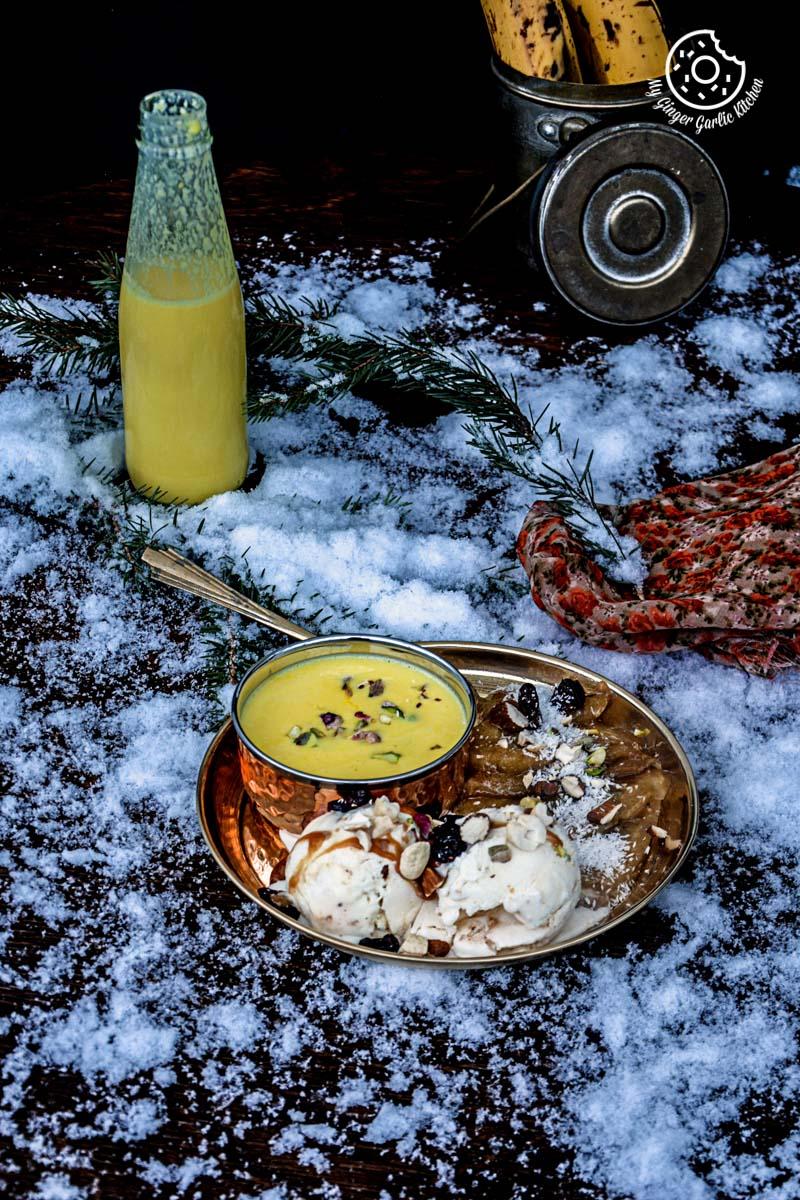 recipes-caramelized-banana-with-nuts-and-mango-yogurt|mygingergarlickitchen.com/ @anupama_dreams