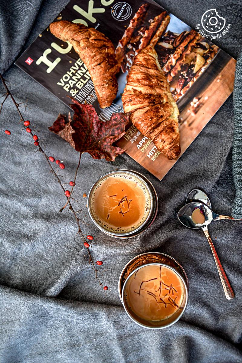 recipes-spiced-kesar-chai|mygingergarlickitchen.com/ @anupama_dreams