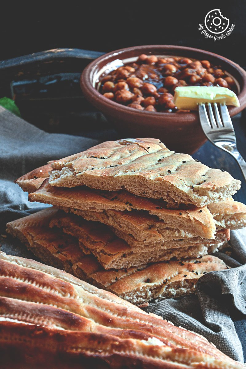 Afghan Naan Bread | mygingergarlickitchen.com/ @anupama_dreams