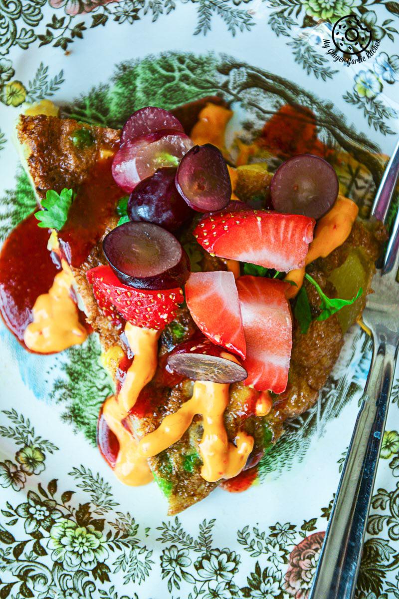 Spanish Style Vegetarian Omelette   mygingergarlickitchen.com/ @anupama_dreams