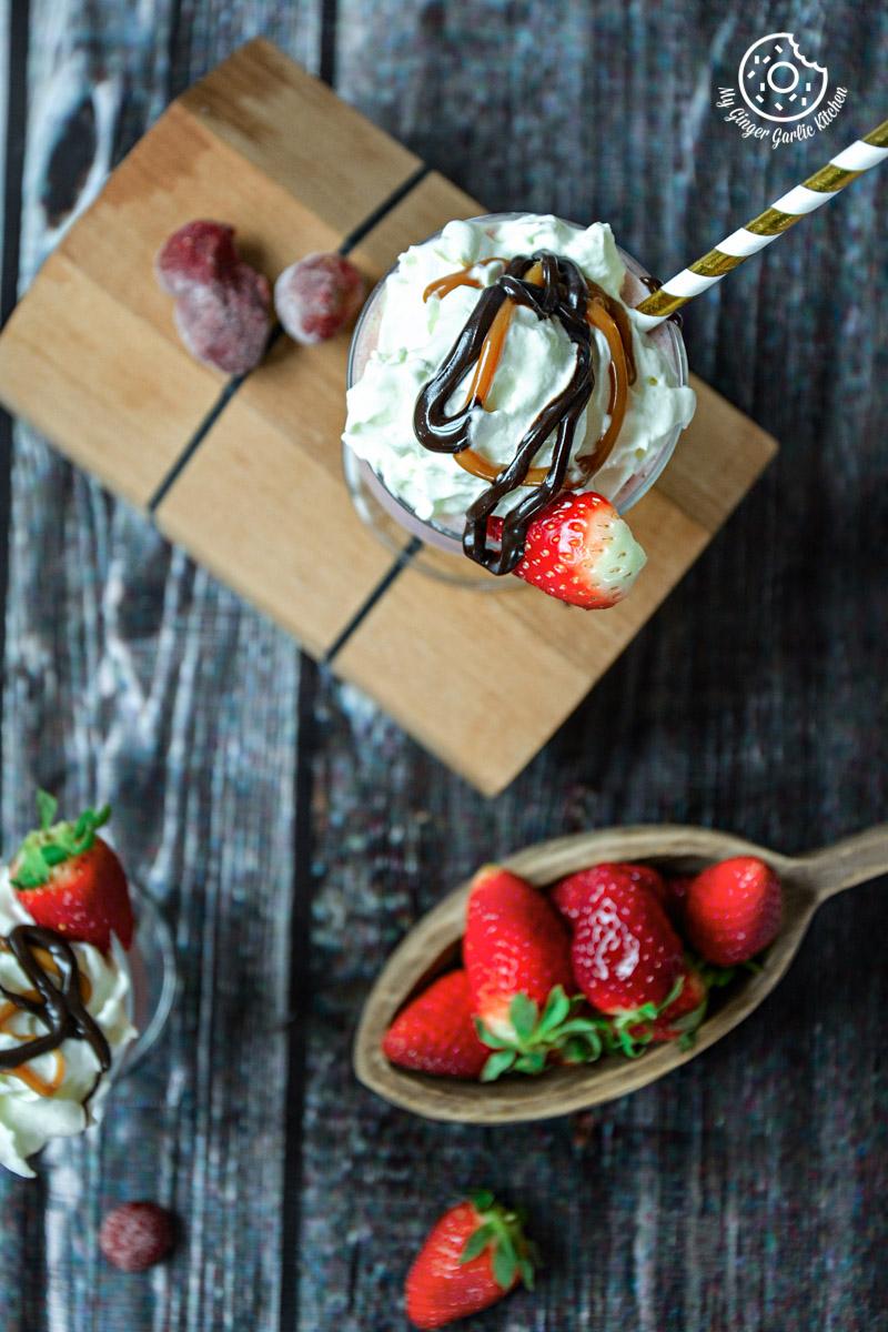 Strawberry Cake Shake   mygingergarlickitchen.com/ @anupama_dreams