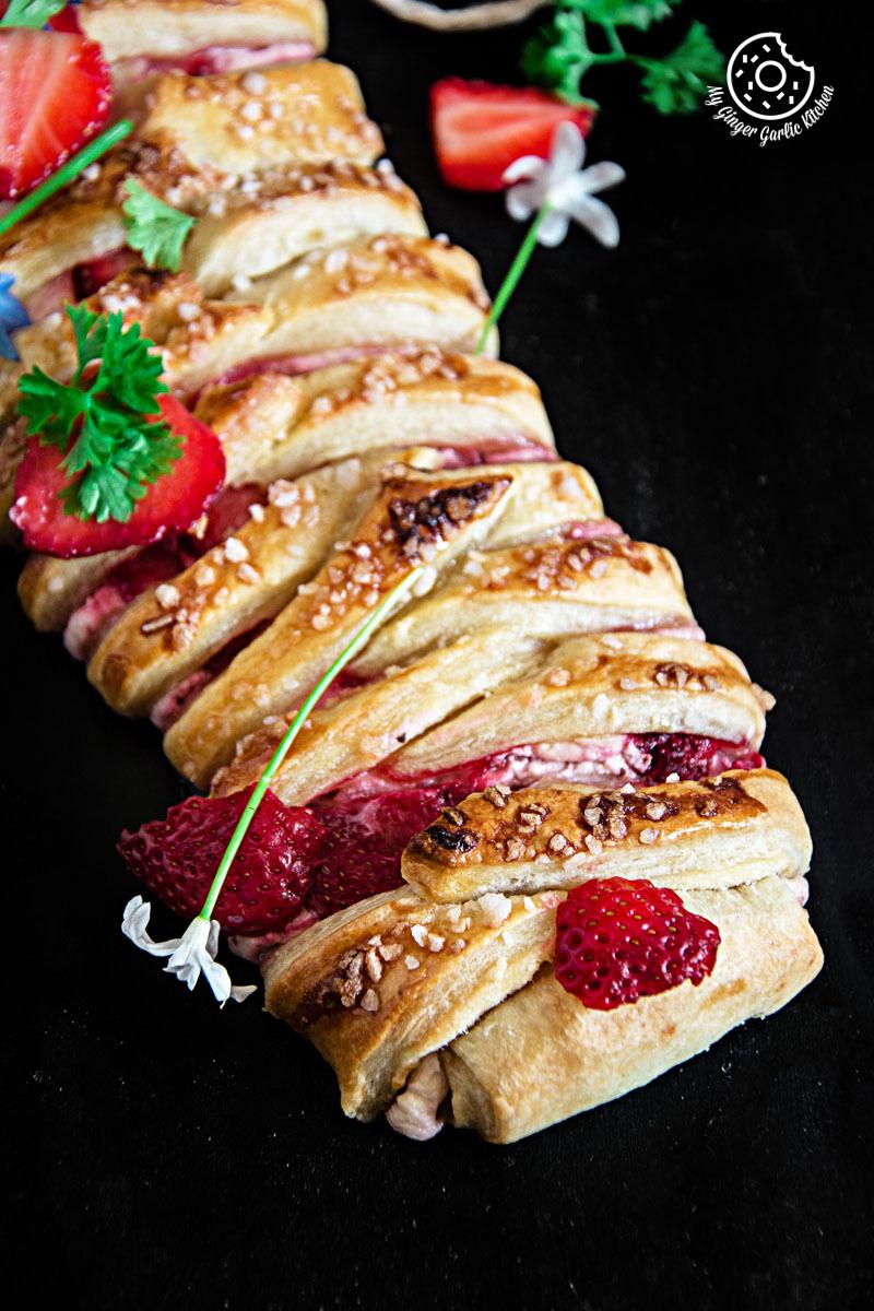 Braided Strawberry Cream Cheese Pastry