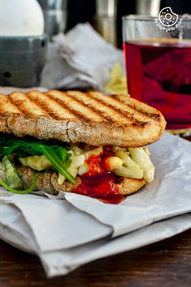 Curried Egg Salad Sandwich | mygingergarlickitchen.com/ @anupama_dreams
