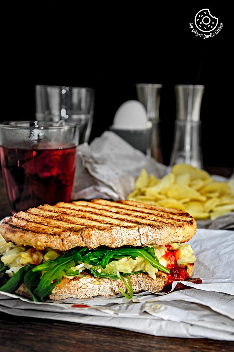 Curried Egg Salad Sandwich| mygingergarlickitchen.com/ @anupama_dreams