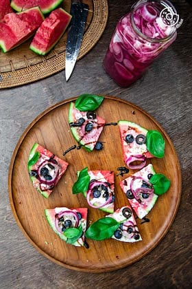 Image of Juicy Watermelon Pizza | Recipe Video