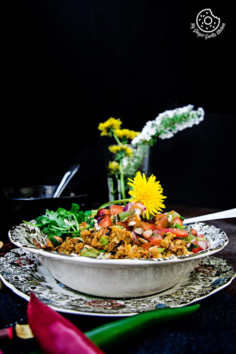 Tortilla Poha With Kiwi Peanut Salsa | mygingergarlickitchen.com/ @anupama_dreams