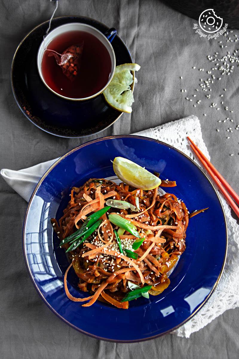 Szechuan Spiced Carrot Fettuccine | mygingergarlickitchen.com/ @anupama_dreams