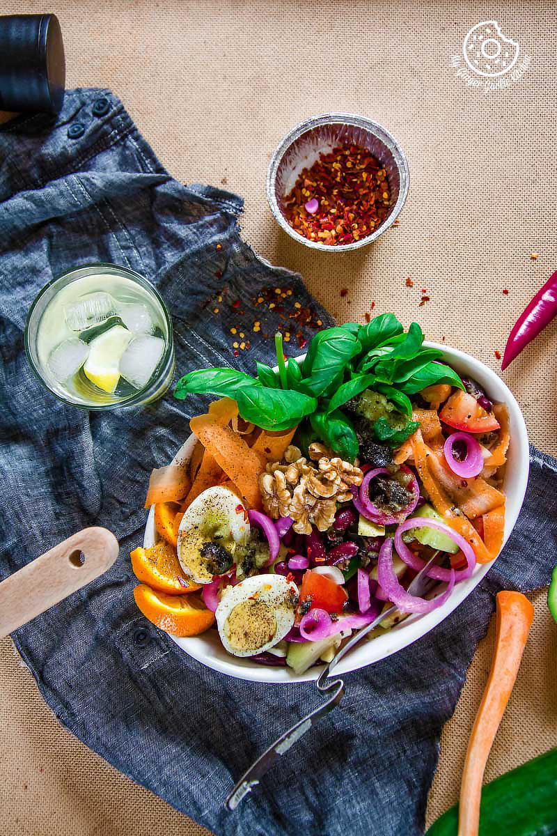 Avocado Tomato Cucumber Salad With Kiwi Dressing | mygingergarlickitchen.com/ @anupama_dreams