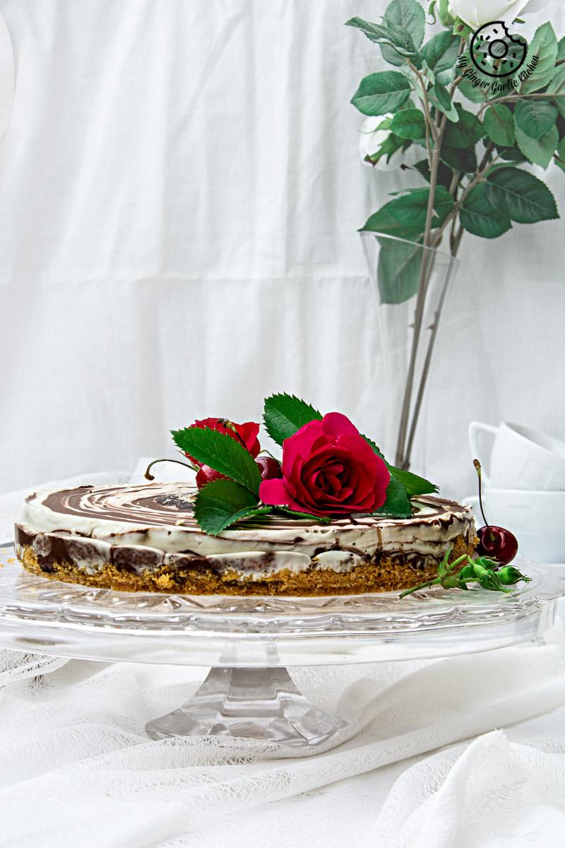 recipe-no-bake-Zebra-Cheesecake | mygingergarlickitchen.com/ @anupama_dreams