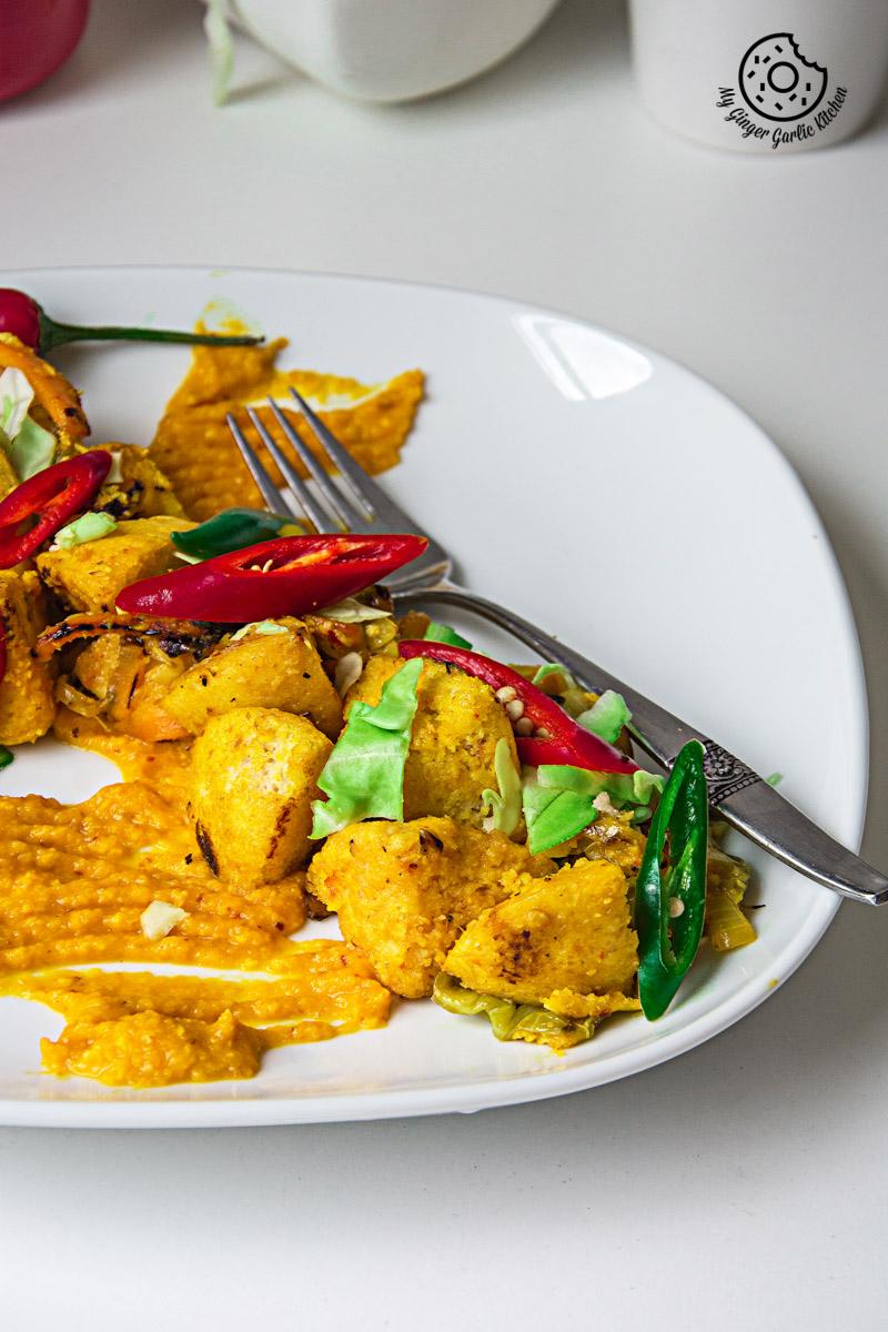Radish Lentil Idli Fry With Carrot Ginger Chutney | mygingergarlickitchen.com/ @anupama_dreams