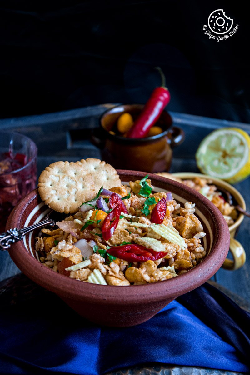 Rice Krispie Cornflakes Bhel | mygingergarlickitchen.com/ @anupama_dreams