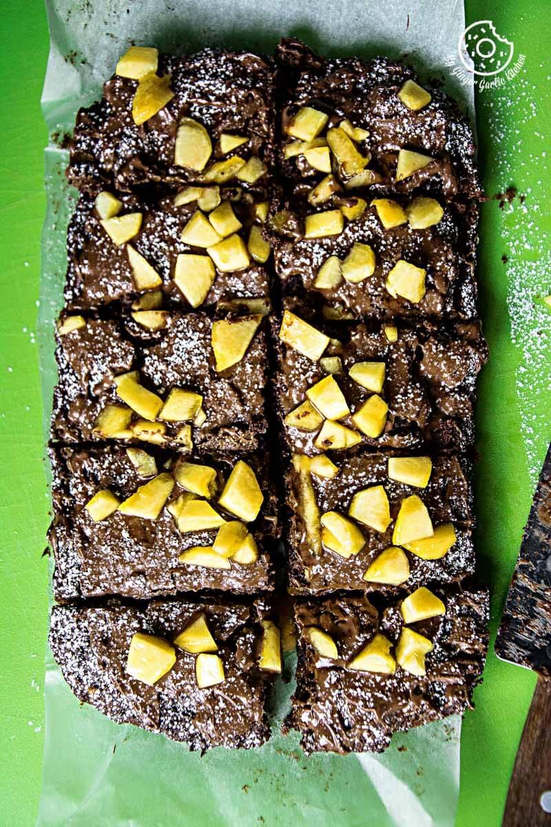 Image - recipes Egglesss Peach Brownie Cream anupama paliwal my ginger garlic kitchen 1 683x1024