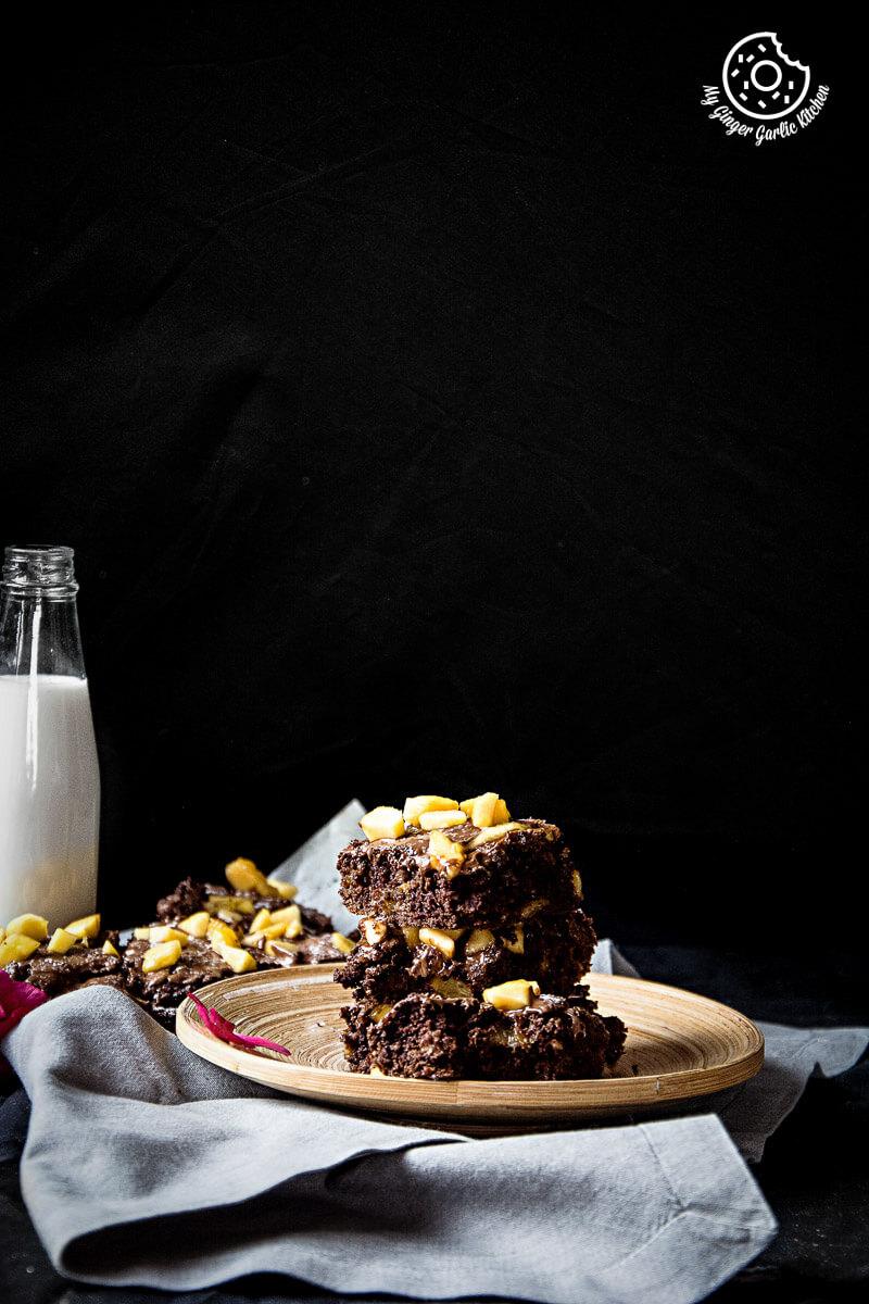 Image - recipes Egglesss Peach Brownie Cream anupama paliwal my ginger garlic kitchen 12 2 683x1024
