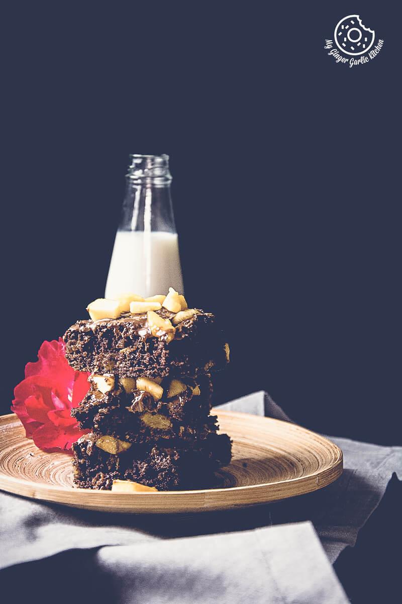 Image - recipes Egglesss Peach Brownie Cream anupama paliwal my ginger garlic kitchen 3 3 683x1024