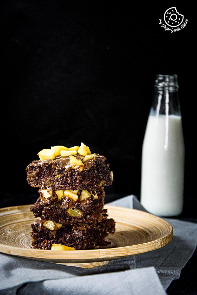 Image - recipes Egglesss Peach Brownie Cream anupama paliwal my ginger garlic kitchen 4 2 683x1024
