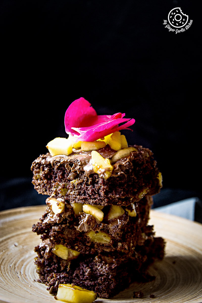 Image - recipes Egglesss Peach Brownie Cream anupama paliwal my ginger garlic kitchen 7 2 683x1024