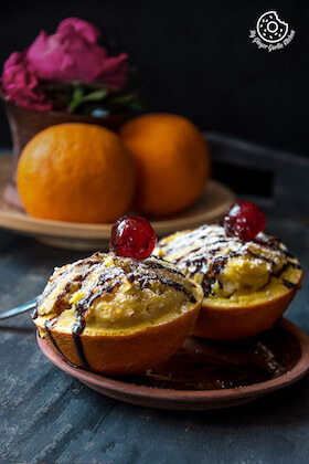 Image of Oats Orange Eggless Muffins 3 Ways (Video)