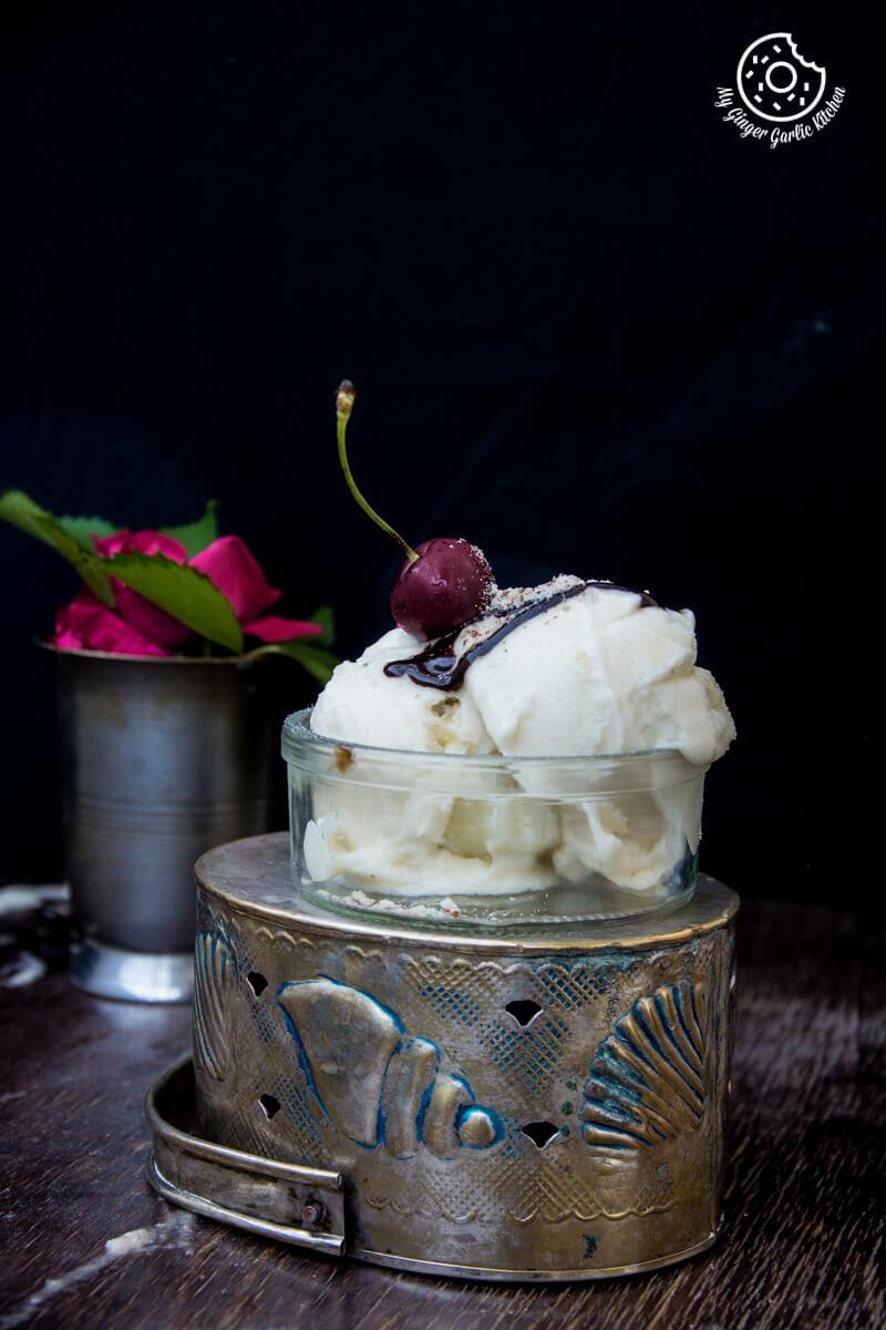Vegan Honeydew Melon Banana Ice Cream  mygingergarlickitchen.com/ @anupama_dreams