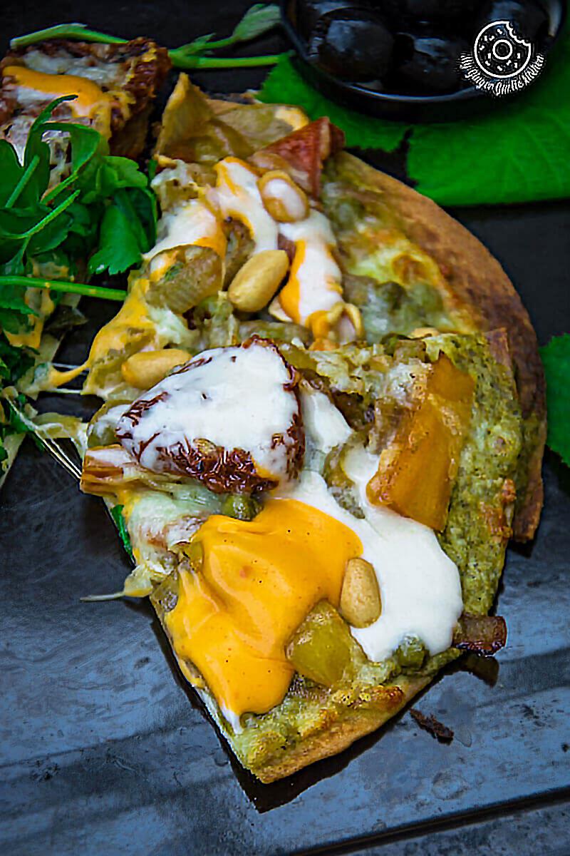 Caramelized Veggie Tortizza 2 Ways   mygingergarlickitchen.com/ @anupama_dreams