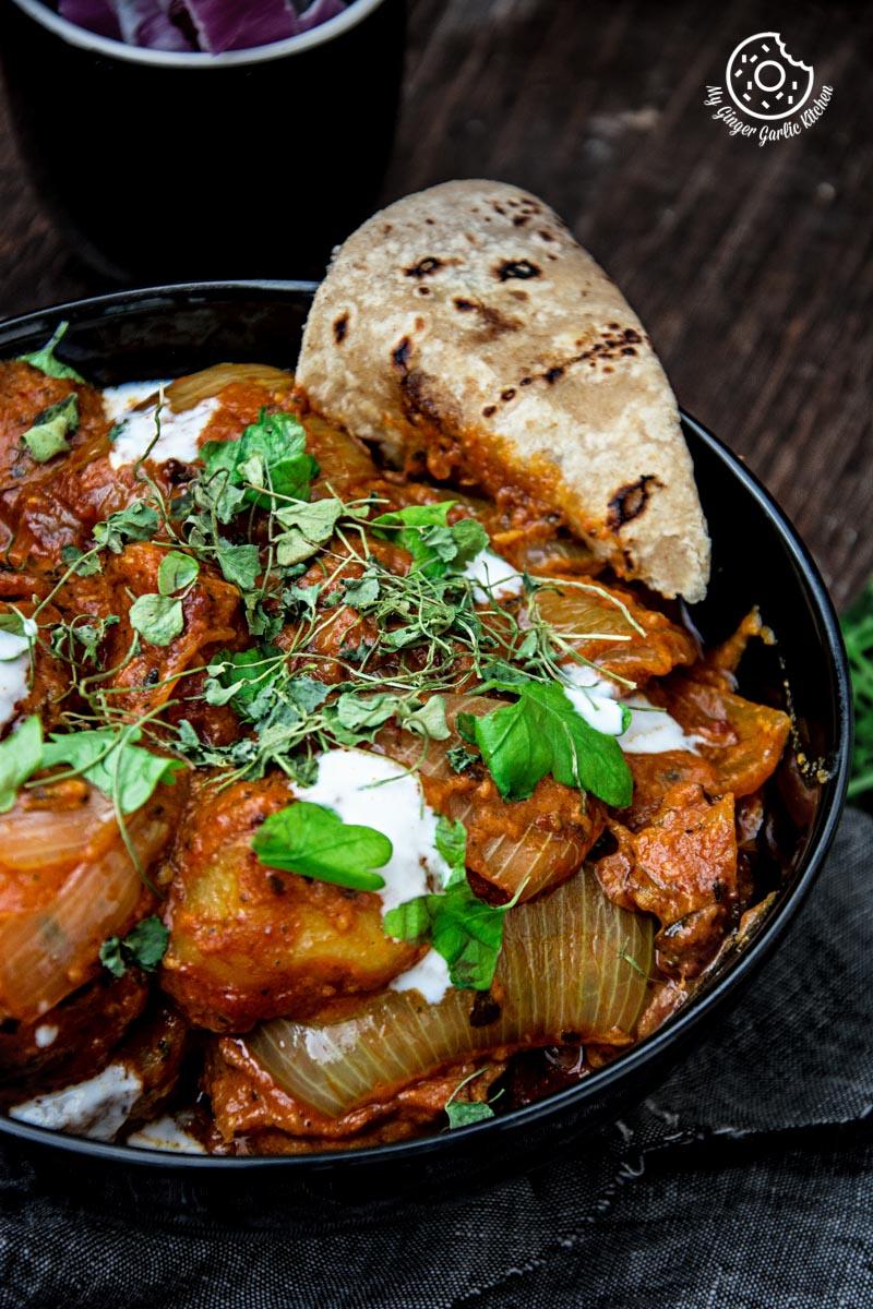 Jaipuri Aloo Pyaaz Ki Sabzi - Potato Onion Curry   mygingergarlickitchen.com/ @anupama_dreams