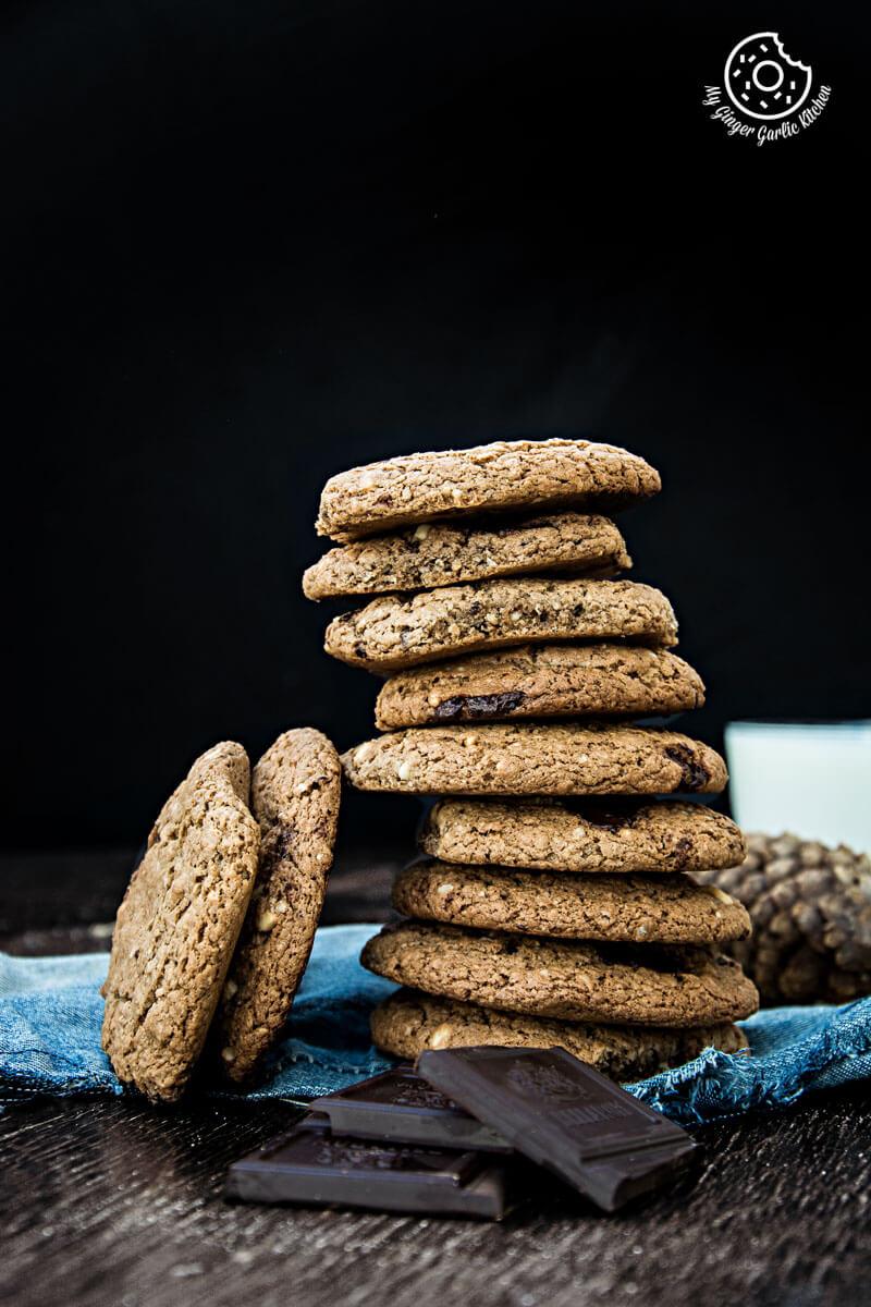 Oatmeal Peanut Butter Chocolate Cookies   mygingergarlickitchen.com/ @anupama_dreams