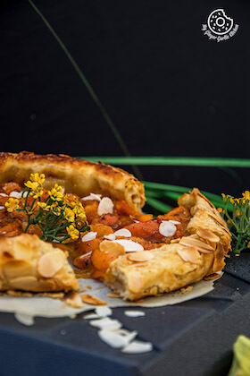 Image of Puff Pastry Apricot Galette with Almond Topping