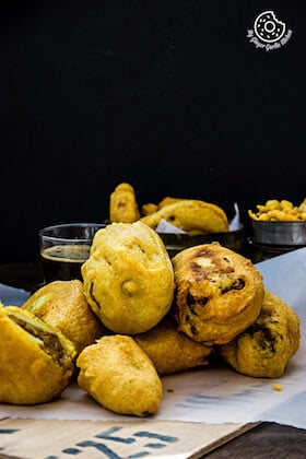 Image of Rajasthani Mirchi Vada - Potato Stuffed Chili Peppers