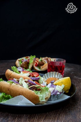 Image of Sweet Potato Cabbage Hot Dog | Vegan Hot Dog