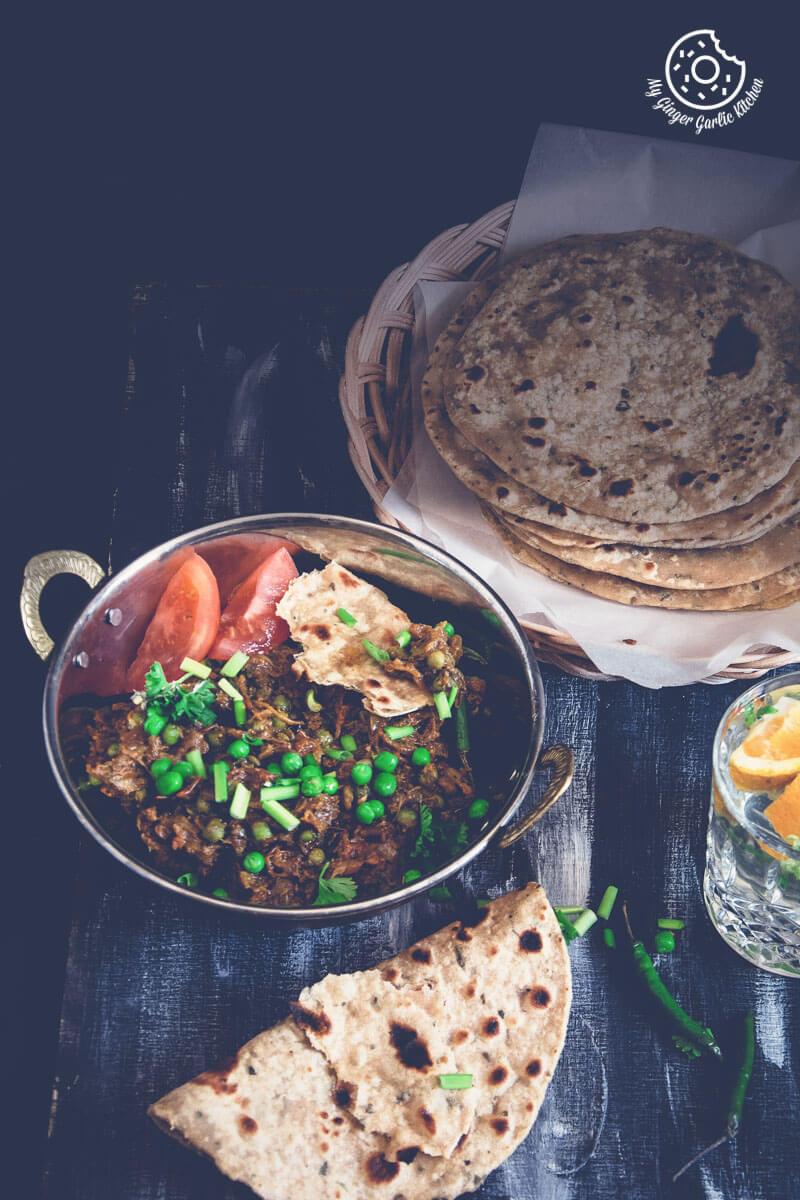 Punjabi Baingan Bharta - Roasted Eggplant Curry | mygingergarlickitchen.com/ @anupama_dreams