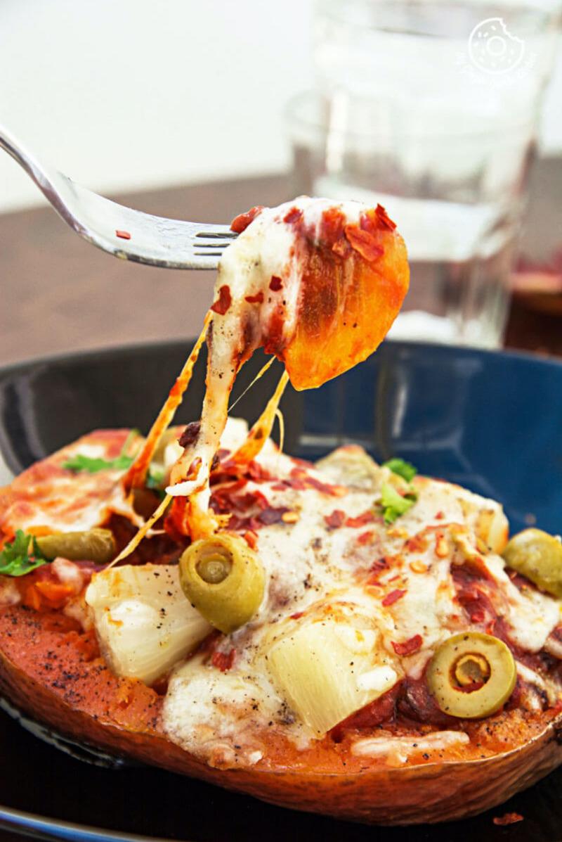 Butternut Spaghetti Squash Pineapple Bean Boats | mygingergarlickitchen.com/ @anupama_dreams