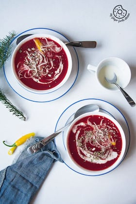 Image of Creamy Carrot Beet Tomato Soup Recipe | Beetroot Carrot Tomato Soup Recipe Video