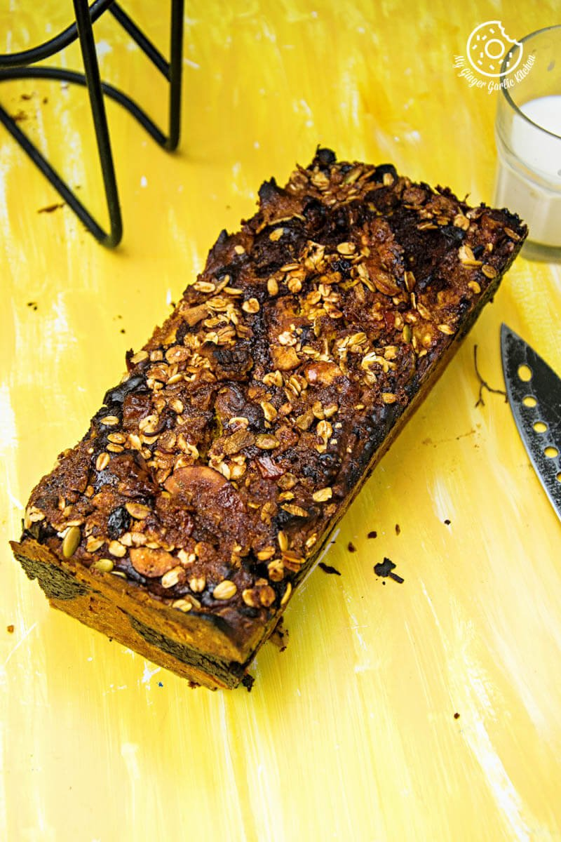 Pumpkin Muesli Chocolate Bread | mygingergarlickitchen.com/ @anupama_dreams