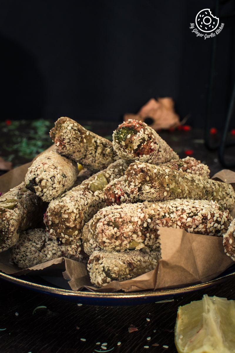 Broccoli Beet Crispy Fingers | Broccoli Beet Croquettes | mygingergarlickitchen.com/ @anupama_dreams