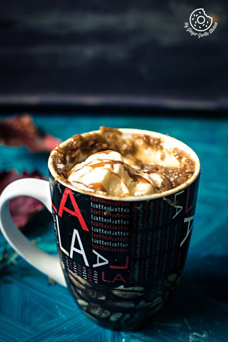 Eggless Apple Pie Mug Cake | mygingergarlickitchen.com/ @anupama_dreams