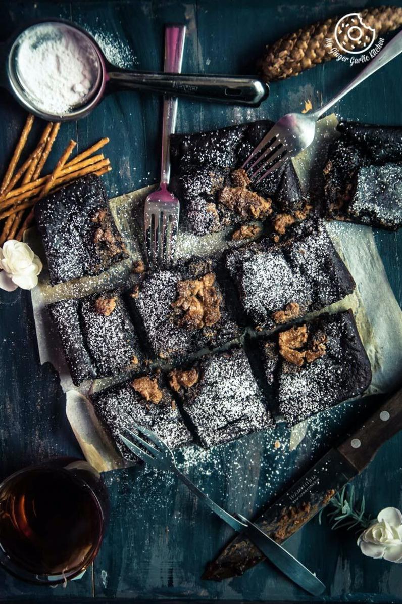 Image - recipes Eggless Banana Peanut Butter Chocolate Brownies anupama paliwal my ginger garlic kitchen Pinterest