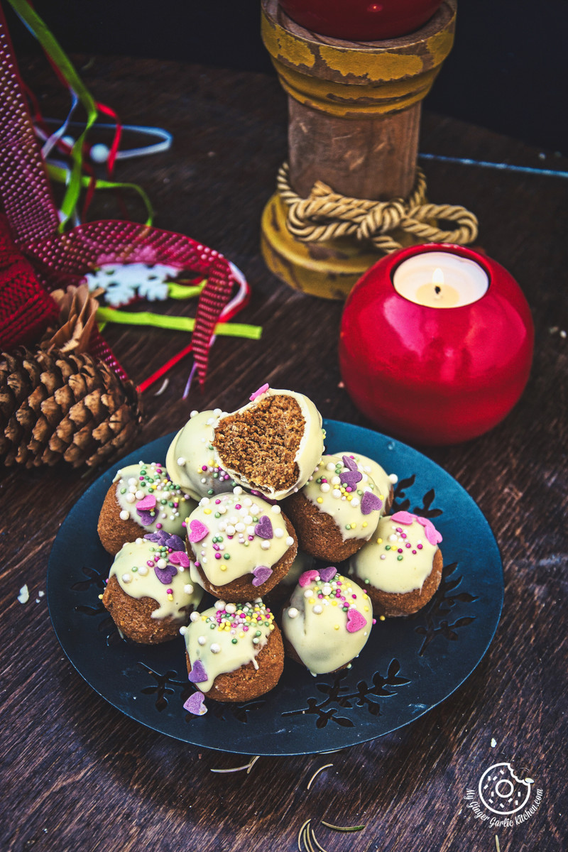 3- Ingredients No Bake Gingerbread Truffles | mygingergarlickitchen.com/ @anupama_dreams