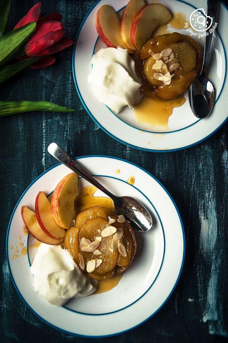 Mini Apple Pear Tarte Tatin | mygingergarlickitchen.com/ @anupama_dreams