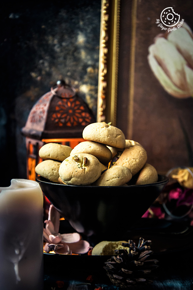Nankhatai | Indian Shortbread Cookies | mygingergarlickitchen.com/ @anupama_dreams